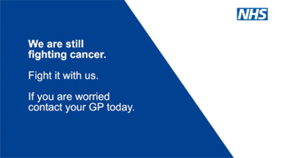 Cancer Support Video. We are still fighting Cancer. Fight it with us. If you are worried contact your GP today.