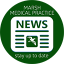 Marsh Medical Practice News. Article selection below, article to the right.